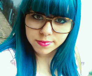 cabelo, colored hair, and colorido image