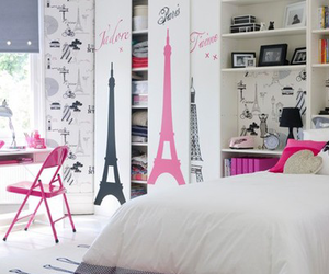 paris, room, and bedroom image
