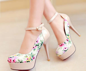 fashion, girls, and high heel shoes image