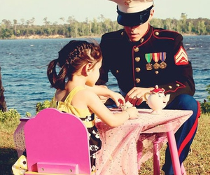 cute, tea, and marine image