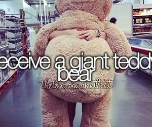 bear, teddy, and bucket list image