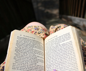 floral, vintage, and book image