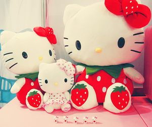 hello kitty, cute, and strawberry image