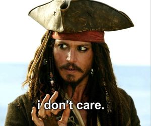 quotes, johnny depp, and i don't care image