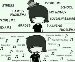 music, problems, and nirvana image