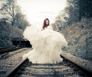 dress, white, and photography image