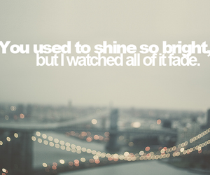 quote, text, and shine image