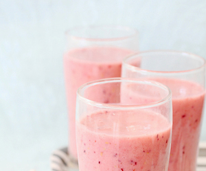 drink, smoothie, and pink image