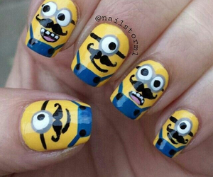 minions, nails, and mustache image