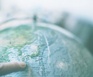 globe, blue, and carte image