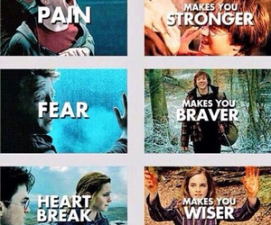 harry potter, fear, and pain image