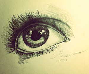 drawing, eye, and practice image