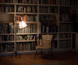 book, lamp, and photo image