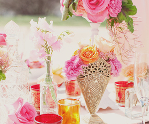 colorful, decor, and table image