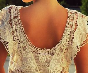 fashion, lace, and shirt image