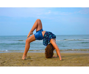 gymnastic, me, and sea image