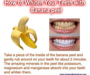 banana, teeth, and tips image