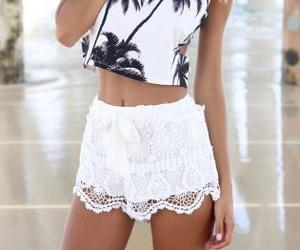 adorable, shorts, and white image