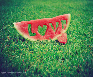 love, watermelon, and summer image