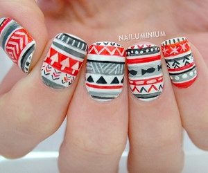 nail art, christmas, and winter image