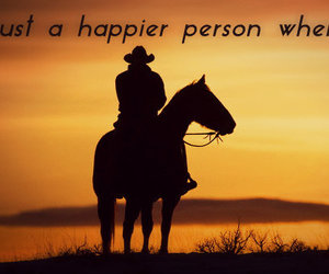 cowboy, happy, and horse image