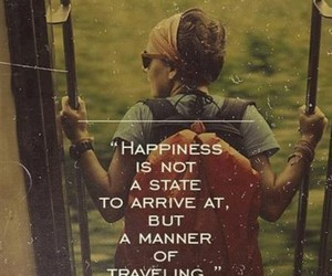 quote, happiness, and travel image