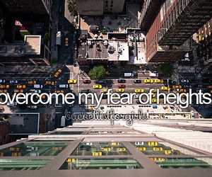 before i die and fear of hights image