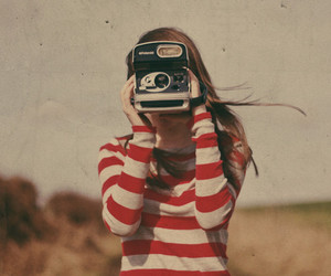 camera, girl, and picture image