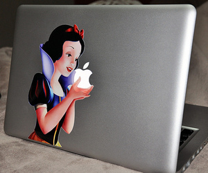apple, snow white, and disney image