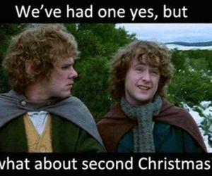 christmas, funny, and hobbit image