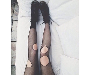 black, grunge, and tights image