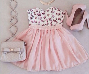 pink, dress, and outfit image