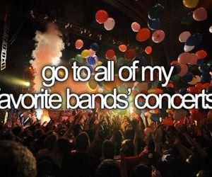 concert, band, and bucket list image