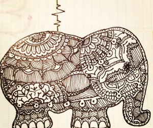 doodle, elephant, and love image