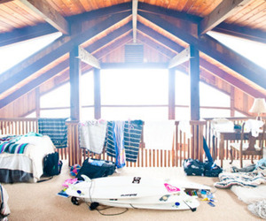 bedroom, surf, and surfboards image