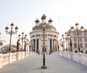 city, skopje, and travel image