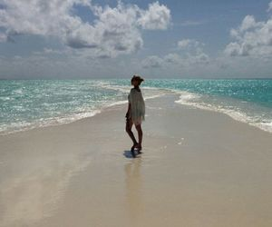 girl, Maldives, and sea image