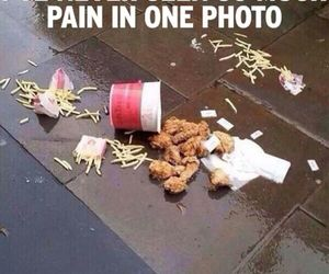pain, food, and funny image
