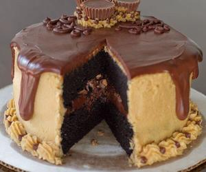 cake, reese's, and foodporn image