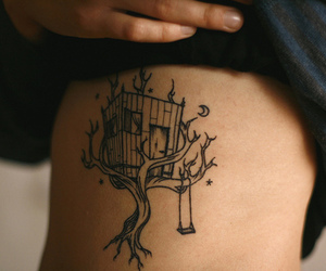 tattoo, tree, and treehouse image