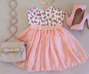 floral, pink, and girly image