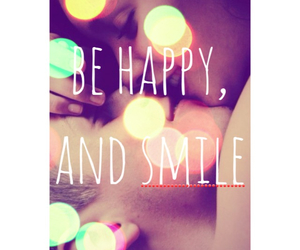 happiness, kiss, and behappy image