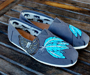 toms, shoes, and blue image