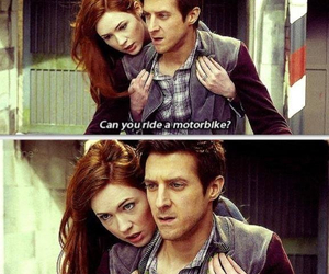 amy, doctor who, and rory image
