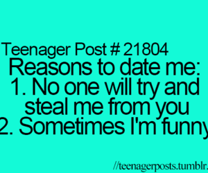 teenager post, date, and funny image