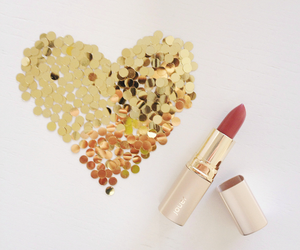 glamour, heart, and lipstick image