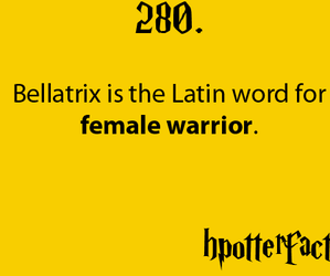 harry potter, bellatrix, and latin image