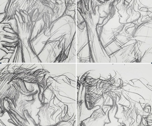 drawing, kiss, and annabeth chase image
