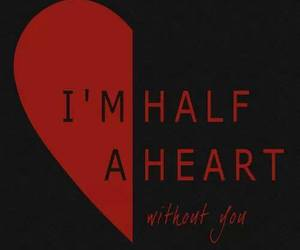 one direction, half a heart, and song image