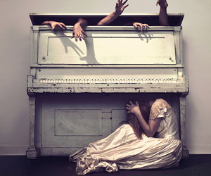 piano, hands, and photography image